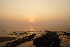 Por do sol em Goa, India Fotografia de Stock