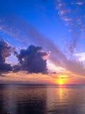 Por do sol em Gotland, Sweden Fotos de Stock