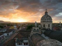 Por do sol em Granada Fotos de Stock Royalty Free