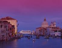 Por do sol em Grand Canal, Veneza Foto de Stock