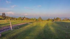 Por do sol em Grayson Highlands State Park foto de stock