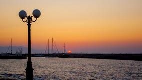 Por do sol em greece Fotografia de Stock