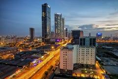 Por do sol em Hanoi de cima de Imagens de Stock Royalty Free
