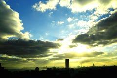 Por do sol em havana, Cuba imagem de stock