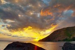 Por do sol em HDR Imagem de Stock