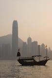 Por do sol em Hong Kong Fotografia de Stock