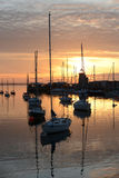 Por do sol em Howth Foto de Stock