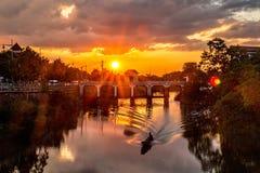 Por do sol em Hue City fotografia de stock royalty free