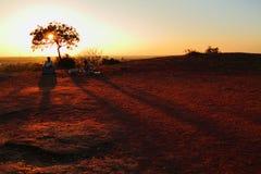 Por do sol em India Fotografia de Stock