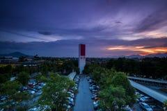 Por do sol em Ipoh, Perak Malásia fotografia de stock royalty free