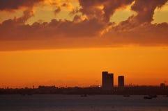 Por do sol em Istambul Foto de Stock