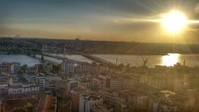 Por do sol em Istambul Imagens de Stock