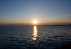 Por do sol em Istambul Fotos de Stock Royalty Free