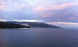 Por do sol em Istria Imagem de Stock Royalty Free