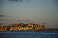 Por do sol em Italy Fotografia de Stock