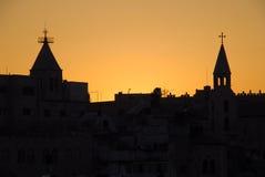 Por do sol em Jerusalem Imagens de Stock Royalty Free