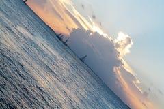 Por do sol em Key West Imagem de Stock