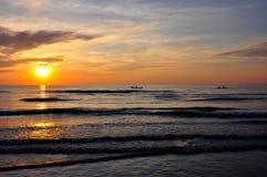 Por do sol em Koh Kood fotografia de stock royalty free