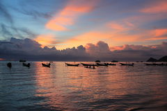 Por do sol em Koh Tao Fotografia de Stock Royalty Free