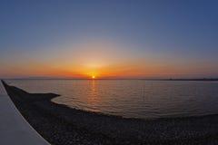 Por do sol em Kyushu Fotos de Stock Royalty Free