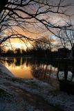 Por do sol em Leeuwarden Imagem de Stock Royalty Free
