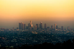 Por do sol em Los Angeles Foto de Stock Royalty Free