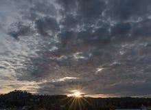 Por do sol em Los Angeles Imagens de Stock Royalty Free