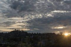 Por do sol em Los Angeles Imagens de Stock