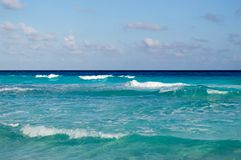 Por do sol em México, Cancun Laguna Nichupte Fotos de Stock Royalty Free
