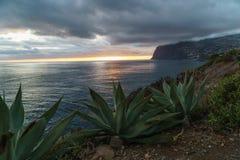 Por do sol em Madeira Foto de Stock Royalty Free