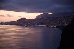 Por do sol em Madeira Fotos de Stock