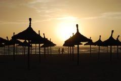Por do sol em Majorca Fotos de Stock Royalty Free