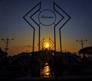 Por do sol em MAJT Imagem de Stock Royalty Free