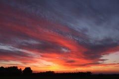 Por do sol em Maremma foto de stock royalty free