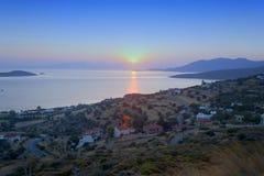 Por do sol em Marmari Foto de Stock