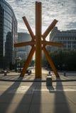 Por do sol em milwaukee do centro Imagens de Stock Royalty Free