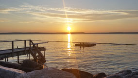 Por do sol em Mindemoya Foto de Stock Royalty Free