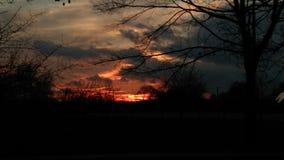 Por do sol em minha cidade Fotos de Stock Royalty Free