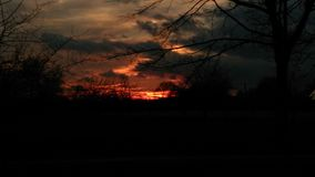 Por do sol em minha cidade Fotos de Stock