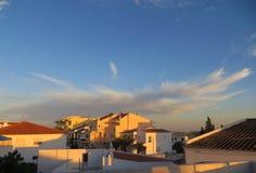 Por do sol em Montenegro, Portugal Imagem de Stock
