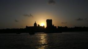 Por do sol em Mumbai Fotografia de Stock