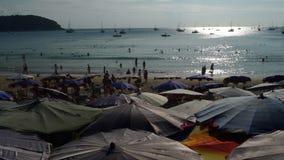 Por do sol em Nai Harn Beach Phuket Thailand Imagens de Stock