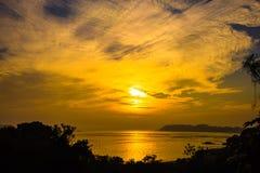 Por do sol em Nanaodao Fotografia de Stock