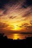 Por do sol em Nanaodao Foto de Stock Royalty Free