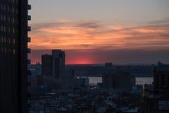 Por do sol em New York Foto de Stock Royalty Free