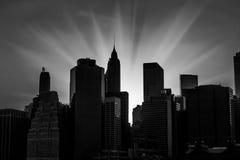 Por do sol em New York City Fotos de Stock Royalty Free