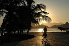 Por do sol em Niteroi, Rio de Janiero, Brasil Fotografia de Stock