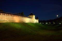 Por do sol em Novgorod Imagens de Stock