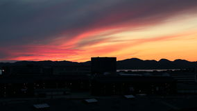 Por do sol em Nuuk Imagem de Stock
