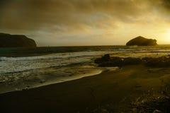Por do sol em Oceano Atlântico Fotografia de Stock
